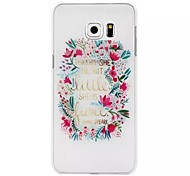 Lace Pattern Transparent PC Material Phone Case for Samsung Galaxy S6 edge