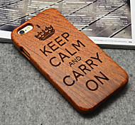 Wood British Empire Keep Calm and Carry On Hard Back Cover for iPhone 6 Plus
