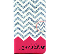 Smile Wave Pattern PU Leather Wallet Soft TPU Case Cover For Samsung Galaxy Tab 4 10.1/ Tab 3 Lite/Tab 4 7.0/Tab A 8.0