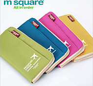 m square Travel Documents Passport Holder Travel Abroad Oxford Purse Card Package Long Section Multicolor