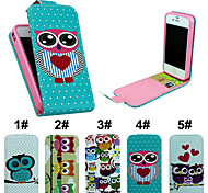 Flip-Open PU Leather Phone Full Body Cover with Card Slot Case for iPhone 4/4S