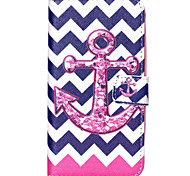 Wave Anchor Pattern PU Leather Wallet Full Body Case with Card Slot And Stands for Motorola MOTO G3 3rd Gen