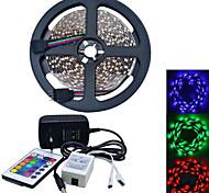 JIAWEN® 5 M 300 3528 SMD RGB Accorciabile / Collagabile 25 W Strisce luminose LED flessibili AC100-240 V