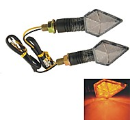 2pcs Yellow 12 SMD LED Motorcycle Indicator Turn Signal Lights Steering Lamps
