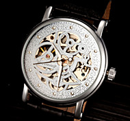 FORSINING Men's Classic Skeleton Auto Mechanical Leather Strap Watch