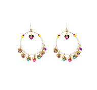 Fashion Women Beaded Big Circle Dangle Earrings