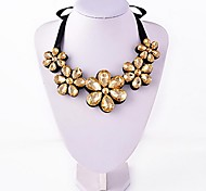 Fashion Orange Big Flower Necklace Jewelry Pendant Choker