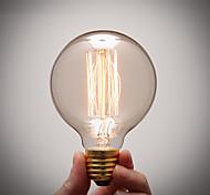 Pure Cupper Lamp Cap Retro Vintage E27 Artistic Filament Bulb Industrial Incandescent Light Bulb 40W