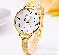 donne orologi d'oro orologi moda cintura lega orologi al quarzo labbra