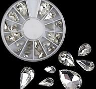 Glass Droplets Diamond Shaped Diamond Nail Diy Mobile Beauty Accessories