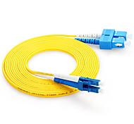 cable de conexión de fibra de doble núcleo shengwei® sc (upc) -lc (upc) simplex 3m / 5m / 10m