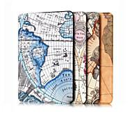 7.9 polegadas mapa padrão de alta qualidade estojo de couro pu para ipad mini-4 (cores sortidas)