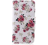 Blumenmuster PU-lederne Mappe Design Ganzkörper-Fall mit Ständer für den iPod touch 5/6