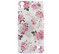 Pink Flower Pattern of Transparent Frosted PC Material Phone Case for Huaweei Ascend G620s