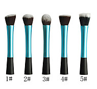 Powder Blush Blusher Foundation Contour Makeup Brushes Set Cosmetic Tool(Blue)
