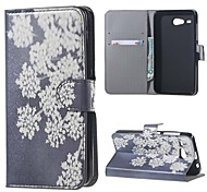 Fashion White Flower Pattern Leather Wallet Flip With Stand Case For Acer Liquid Z520 Cell Phone Bags Cases