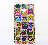 Yellow Background Owls Pattern TPU Soft Case for Nokia N640