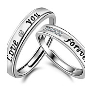 Couple Eternal Love You Forever LOVE Adjustable Rings  2pcs