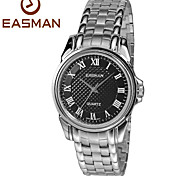 EASMan Men Black Watch Brand Men Casual Roma Steel Style Quartz Watches For Men Wristwatches