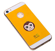 Yellow Iphone5/5s Case Anti-radiation Phone Cover  Graphene Cooling IPhone Stickers with Cute Monkey for Iphone5/5S