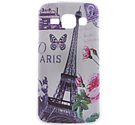 Eiffer Tower Pattern PC Hard Back Cover Case for Samsung Galaxy J1/G530/G360/G386f
