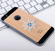 Snow Flower Diamond Graphene Cooling Yellow Phone Sticker for Iphone5 5S Protect Pregnant Woman from Radiation
