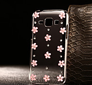 DIY Pink Flowers Pattern PC Hard Case for Multiple Samsung Galaxy A3/A5/A7/A8