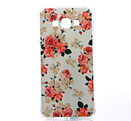 Elegant Blooms Pattern TPU Soft Case for Samsung Galaxy A8
