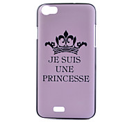 For Wiko Case Pattern Case Back Cover Case Word / Phrase Hard PC Wiko