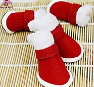 Cat / Dog Socks & Boots Red Winter Christmas / New Year's