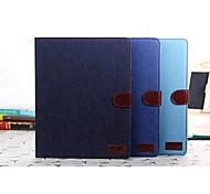 ji de jean caso de couro lona para Apple iPad 2 3 4 com display retina, vaqueiro Stand Case para iPad 2 3 4