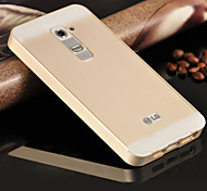 Premium Aluminum Metal Frame Acrylic Back Cover Set Case For LG G2 D802 D805 (Assorted Colors)