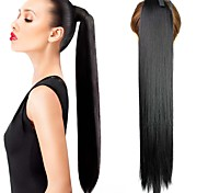 22 Inch Synthetic Straight Clip in Ponytail Hairpiece