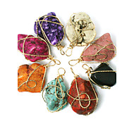 Beadia 1Pc Turquoise Stone Pendants Irregularity Shape DIY Jewelry Pendants For Women Necklace(Dyed Colors)