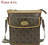Kate & Co.® Women PVC Shoulder Bag Gray - TS-00079