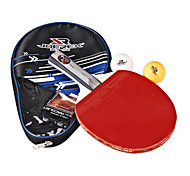 Joerex Table Tennis Combo Include 1 Piece Long Handle Racket 3 Star Level, 2 Pieces Table Tennis Balls and Cover