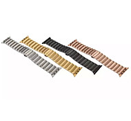 Three Pearl Black/Yellow Golden/Rose Golden IP Plating Stainless Band for Apple Watch 42mm