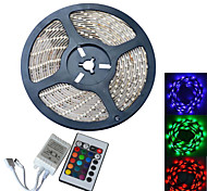 JIAWEN® Waterproof 5M 300-5050 SMD RGB LED Strip Light with 24Key Remote Controller (DC12V /5M)