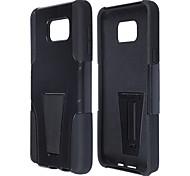 caso híbrido 2-en-1 de protección pc y silicona con soporte para Samsung Galaxy Note 5 - negro