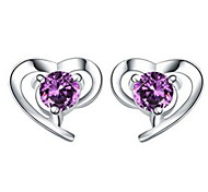 WH  Woman  Heart-shaped Earrings