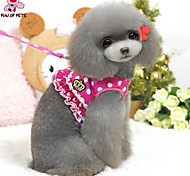 FUN OF PETS® Elegant Lady Style Dots Harness with 120cm Leash  for Pets Dogs (Assorted Sizes and Colours)