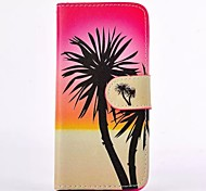 Tropical Amorous Feelings Pattern PU Leather Full Body Case with Card Slot for iPhone 4/4S