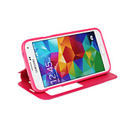 PU Open the Window Mobile phone Holster for Samsung Galaxy S5 Assorted Color