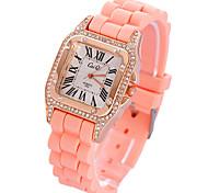 Women's  Wave  Elegant Square Dial Silicone Band Quartz Analog Wrist Watch(Assorted Color) Cool Watches Unique Watches