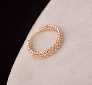 Fashion Micro Pave CZ couple rings jewelry simple hollow copper ring