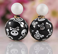 HUALUO®Fashion Skull Candy Ball Earrings