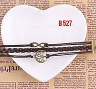 New Fashion Charm Round Metal Bracelet Handmade Girl Jewelry