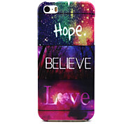 The free life of love Pattern TPU Soft Case for iPhone 5/5S