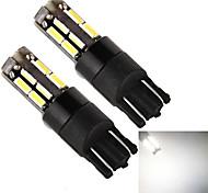 YOBO T10 18SMD 4014 5W 400LM White Light LED Bulb for Car Signal Lamps (2-Pack, DC 12V)