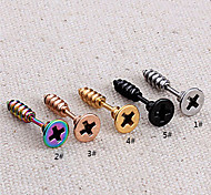 Miss ROSE®Men's Fashion Screw Cap Earrings(1pcs)